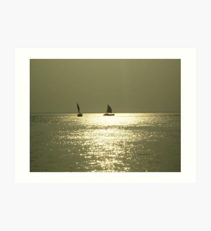 Golden Sunset Art Print