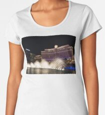 Midnight Dance - Silky Bellagio Fountains at Night Women's Premium T-Shirt