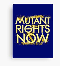 Mutant Rights Now Canvas Print