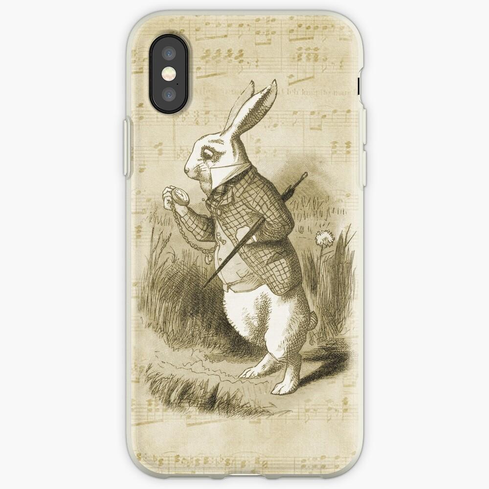 Conejo blanco - Alicia en el país de las maravillas Funda y vinilo para iPhone