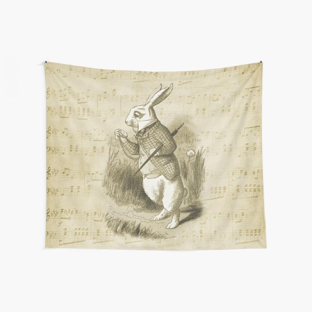 Conejo blanco - Alicia en el país de las maravillas Tela decorativa