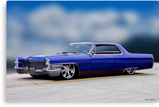1966 Cadillac Custom Coupe Deville I Canvas Prints By Davekoontz