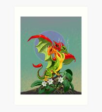 Peppers Dragon Art Print