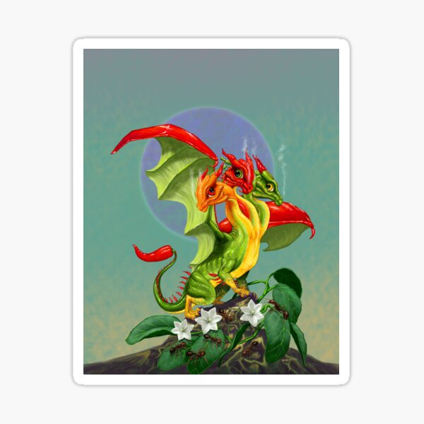 Peppers Dragon Sticker