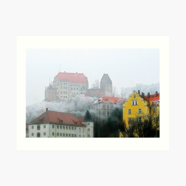 The old town of Landshut in Bavaria, Germany Art Print