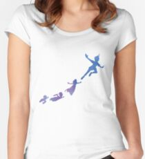 Peter Pan silhouettes Fitted Scoop T-Shirt