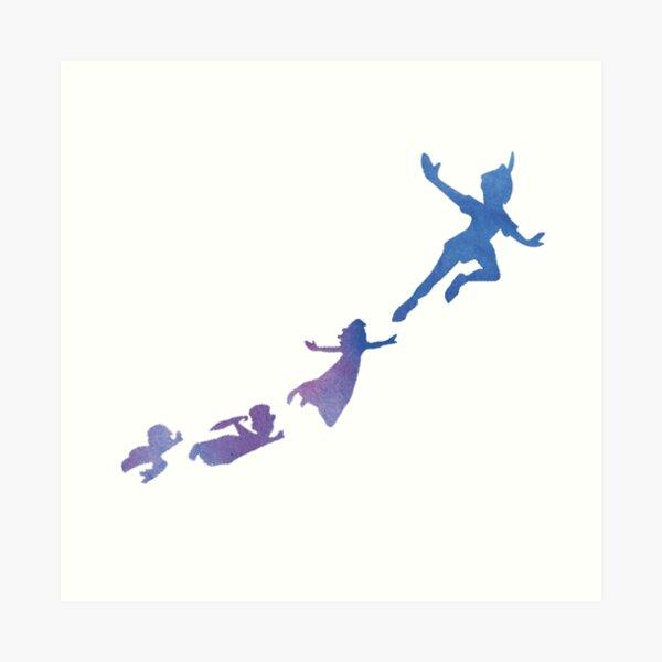 Peter Pan silhouettes Art Print