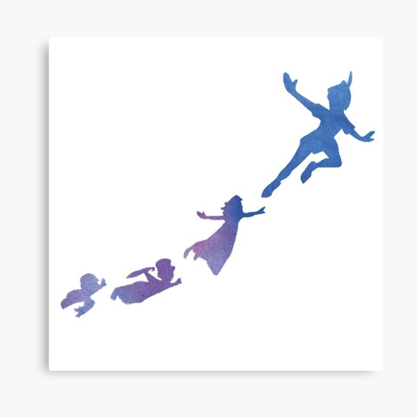 Peter Pan silhouettes Canvas Print
