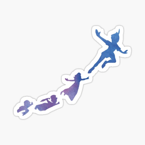 Peter Pan silhouettes Sticker