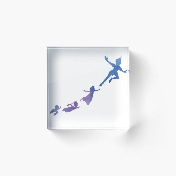 Peter Pan silhouettes Acrylic Block