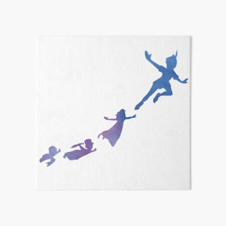 Peter Pan silhouettes Art Board Print