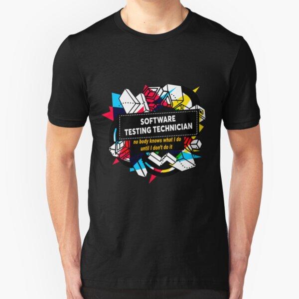 SOFTWARE TESTING TECHNICIAN Slim Fit T-Shirt