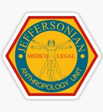 Jeffersonian Logo- Bones TV Show Sticker