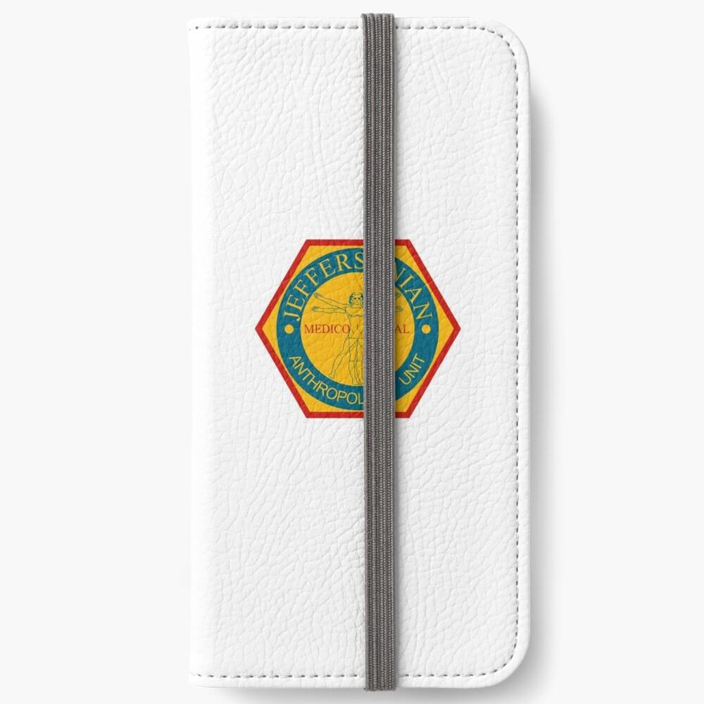 Jeffersonian Logo Bones Tv Show Iphone Wallet By Anatomyofart Redbubble