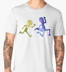 Rick and Morty running  Men's Premium T-Shirt