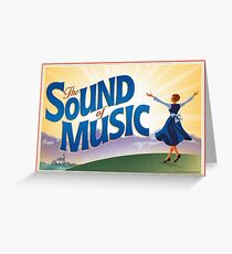 The Sound of Music Art  Greeting Card