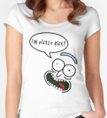 I'm Pickle Rick! Women's Fitted Scoop T-Shirt