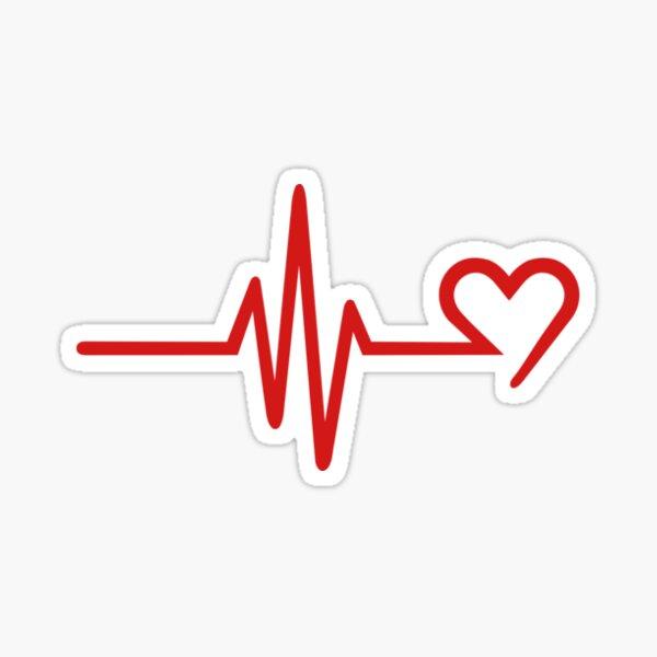 Heartbeat-Heart Pegatina