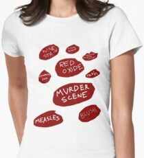 'Certain Shade of Red' Womens Fitted T-Shirt
