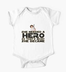 She Needed a Hero (Space Princess Version) Kids Clothes