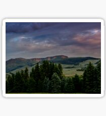 Sunrise in the Mountains Sticker