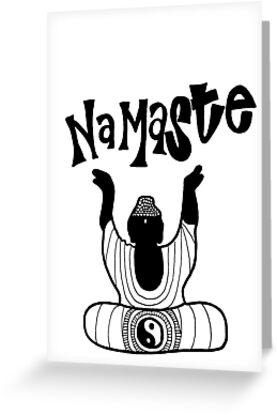 Namaste buddha greeting cards by alexavec redbubble namaste buddha by alexavec m4hsunfo