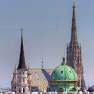 View From Justizcafe, 1010 Vienna Austria by Mythos57