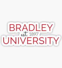 Bradley University est. 1897 Sticker