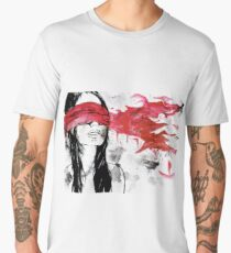 Girl Blindfolder Men's Premium T-Shirt