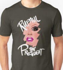 RuPaul for President- White Text T-Shirt