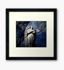 Poem by Sally Omar - Angel, Cross my Heart Framed Print