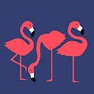 Fluorescent Flamingos by tonadisseny