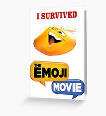 I survived the emoji movie Greeting Card