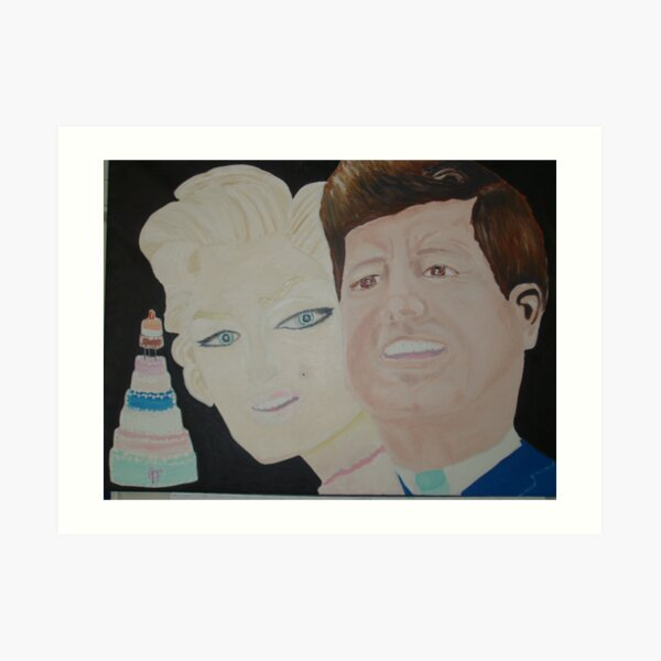 """ Happy Birthday Mr President "" – JFK & Marilyn Art Print"