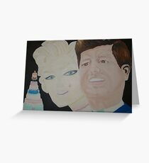 """ Happy Birthday Mr President "" – JFK & Marilyn Greeting Card"