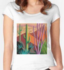 Tucson Desert (Square Format) Women's Fitted Scoop T-Shirt