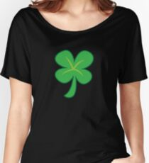 Green clover shamrock for St Patrick's day cute! Women's Relaxed Fit T-Shirt