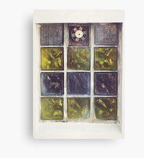 Retro Window Blocks Canvas Print