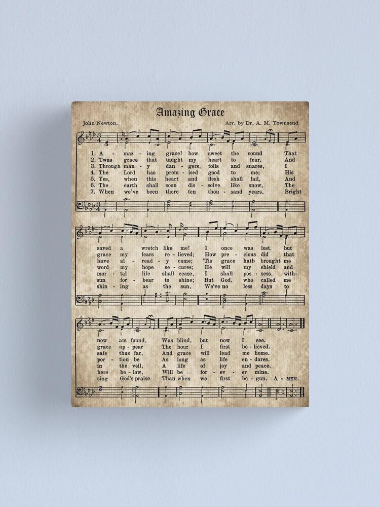Vista alternativa de Lienzo Amazing Grace Vintage Hymn