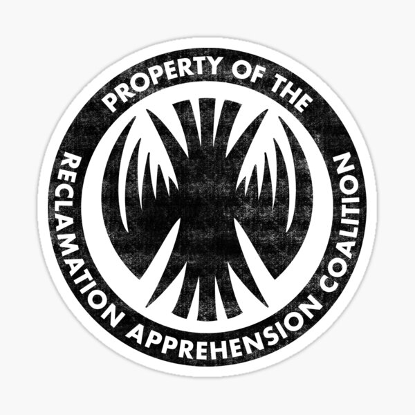 Property of the RAC Distressed- Reclamation Apprehension Coalition Sticker