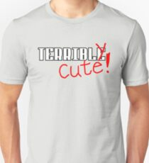 Terribly Cute - White/Red Unisex T-Shirt