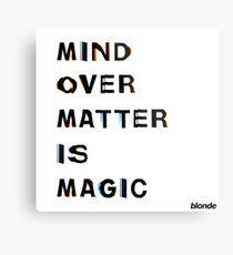Mind Over Matter - Frank Ocean Metal Print