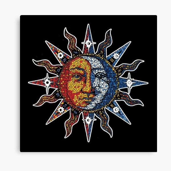 Celestial Mosaic Sun/Moon Lienzo