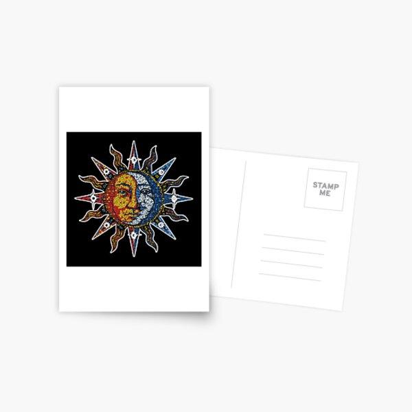 Celestial Mosaic Sun/Moon Postcard