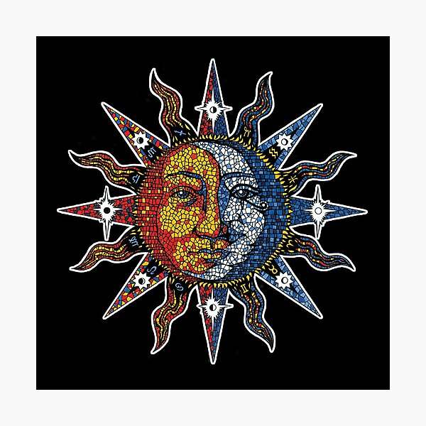 Celestial Mosaic Sun/Moon Photographic Print