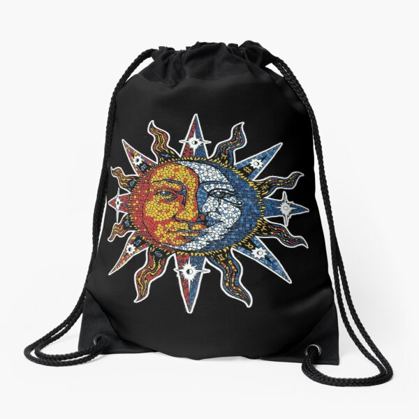 Celestial Mosaic Sun/Moon Drawstring Bag