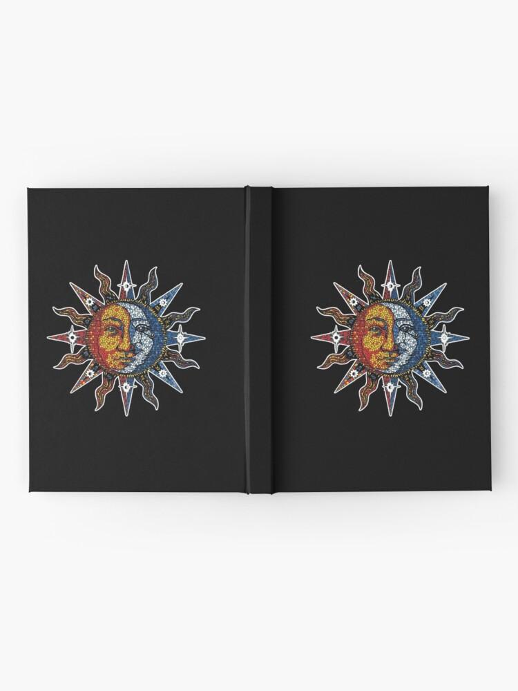 Alternative Ansicht von Celestial Mosaic Sun/Moon Notizbuch