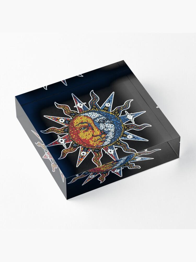 Alternate view of Celestial Mosaic Sun/Moon Acrylic Block