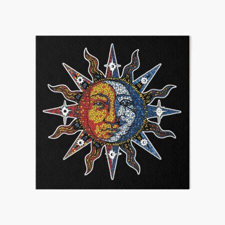 Celestial Mosaic Sun/Moon Art Board Print