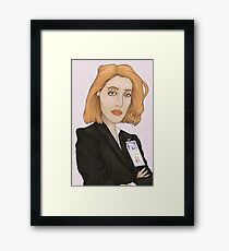 Special Agent Dana Scully Framed Print